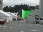 There were two studios, one in Porirua and one in Miramar. For some of the battle and helicopter scenes, a giant outdoor green screen was created from shipping containers.