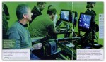 Jim Cameron viewing the camera monitors. Most scenes where shot 3-4 camera.