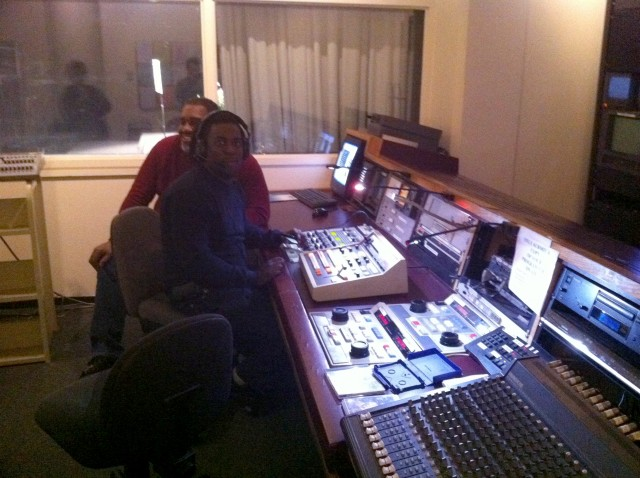 Ed and Maruwa in control room