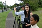 Filiming in May Road.   Ep 4 Story One - Growing A Village.   Getting to know each other proves a challenge for the culturally diverse residents of the Housing New Zealand community of Mt. Roskills May Rd.